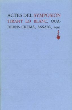 Portada Actes del Symposion Tirant lo Blanch