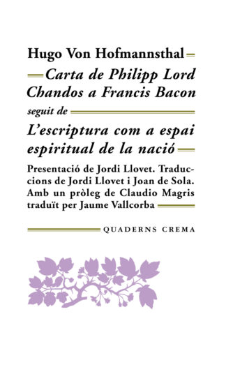 Portada Carta de Philipp Lord Chandos a Francis Bacon