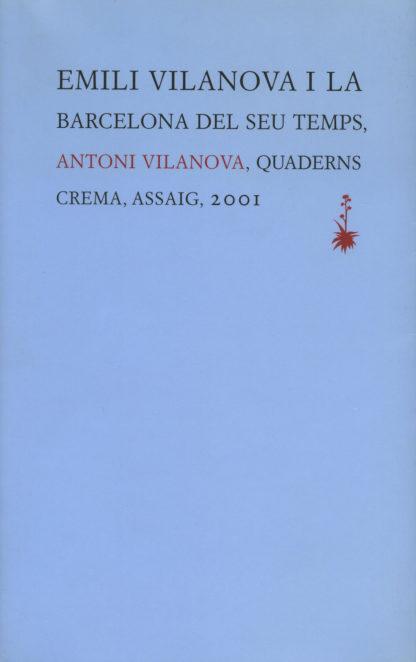 Portada Emili Vilanova i la Barcelona del seu temps