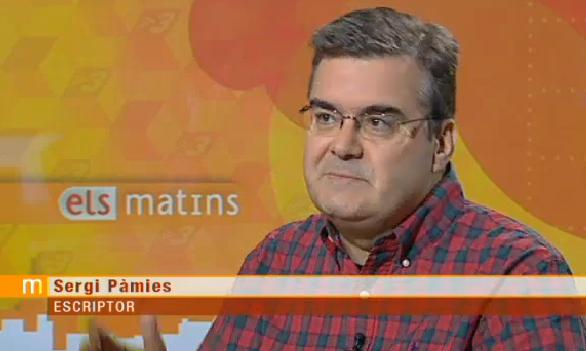 """Imatge de l'entrada """"Entrevista a Sergi Pàmies als 'Matins' de TV3"""""""