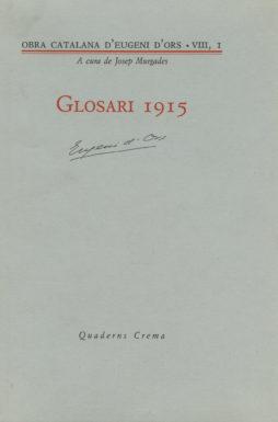 Portada Glosari 1915