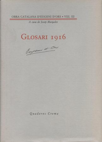 Portada Glosari 1916