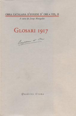 Portada Glosari 1917