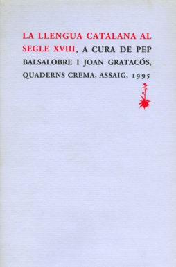 Portada La llengua catalana al segle XVIII