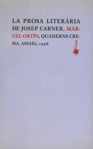Portada La prosa literària de Josep Carner