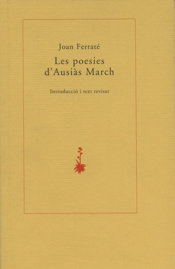 Portada Les poesies d'Ausiàs March