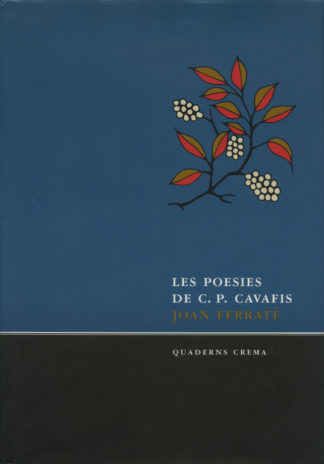 Portada Les poesies de C. P. Cavafis