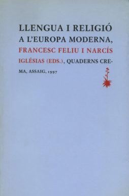 Portada Llengua i religió a l'Europa moderna