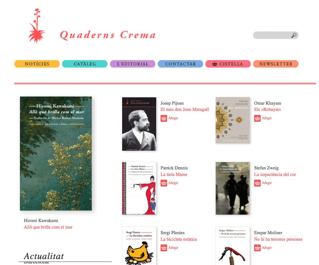 """Imatge de l'entrada """"Novetats a la web de Quaderns Crema"""""""