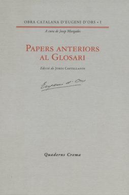 Portada Papers anteriors al Glosari