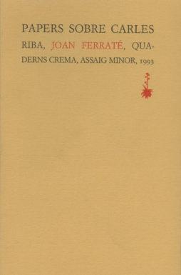 Portada Papers sobre Carles Riba