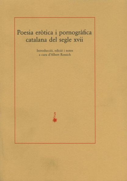 Portada Poesia eròtica i pornogràfica catalana del segle XVII
