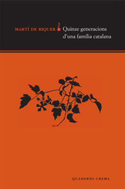 Portada Quinze generacions d'una familia catalana