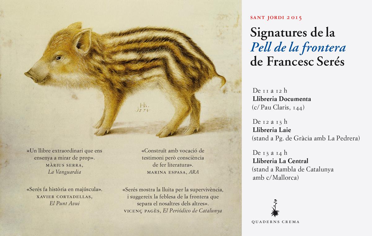 """Imatge de l'entrada """"Signatures de Francesc Serés per Sant Jordi"""""""