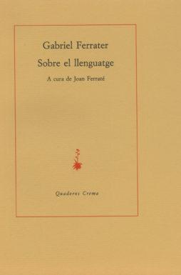 Portada Sobre el llenguatge