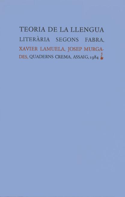 Portada Teoria de la llengua literària segons Fabra