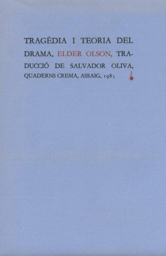 Portada Tragèdia i teoria del drama