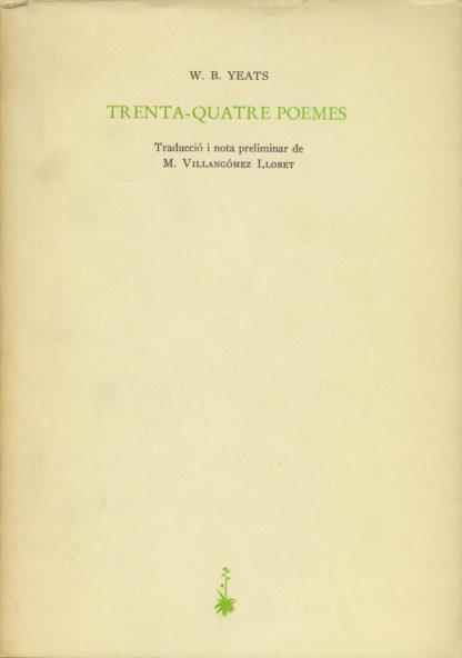 Portada Trenta-quatre poemes