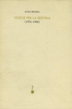 Portada Viatge per la sextina (1976-1986)